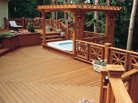Barandillas De Madera Para Exterior Excellent Escalera Exterior En - Escaleras-de-madera-para-exteriores