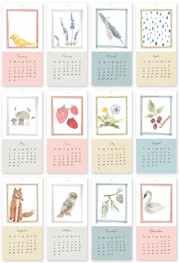 Monatliche Kalendervorlagen, gut für den DIY Erinnerungskalender ...