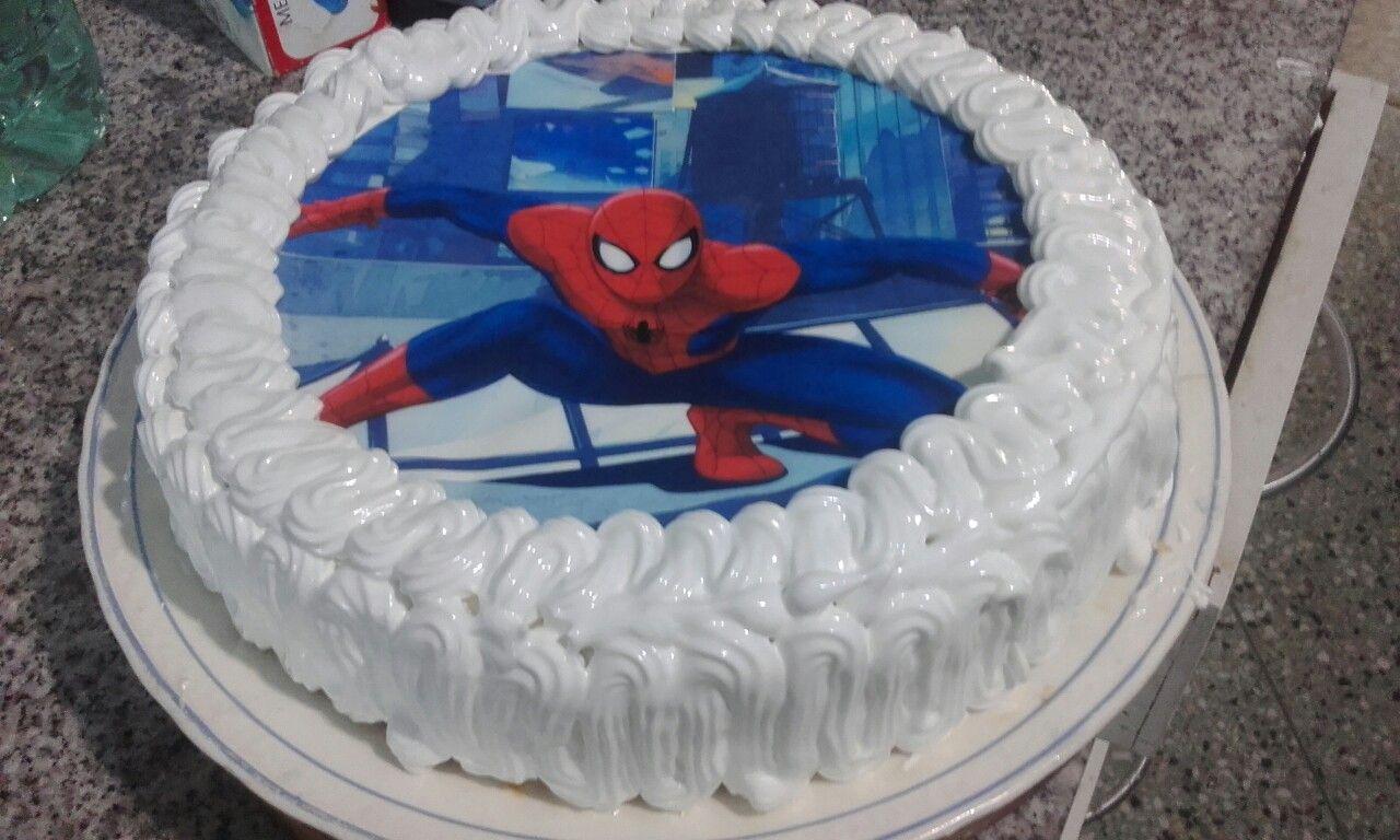 Torta Del Hombre Arana Con Merengue Desserts Birthday Cake