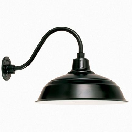 Good The Epitome Of Gooseneck Barn Lights | The Derby Warehouse Shade $196