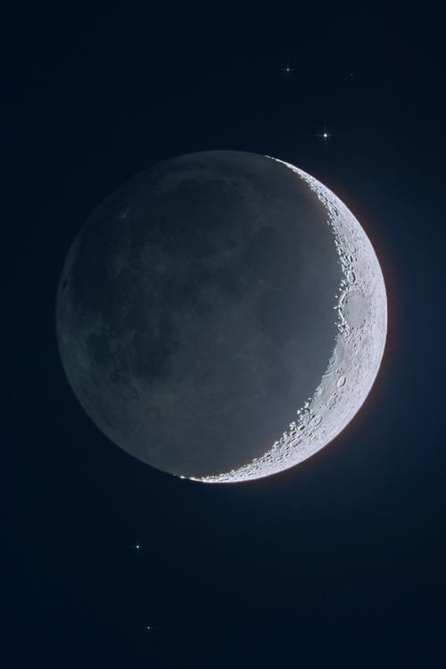 Plasmatics Waxing Crescent Moon By Julian Cooper 18 45 Ut 4 March 2014 Shoot The Moon Moon Surreal Art