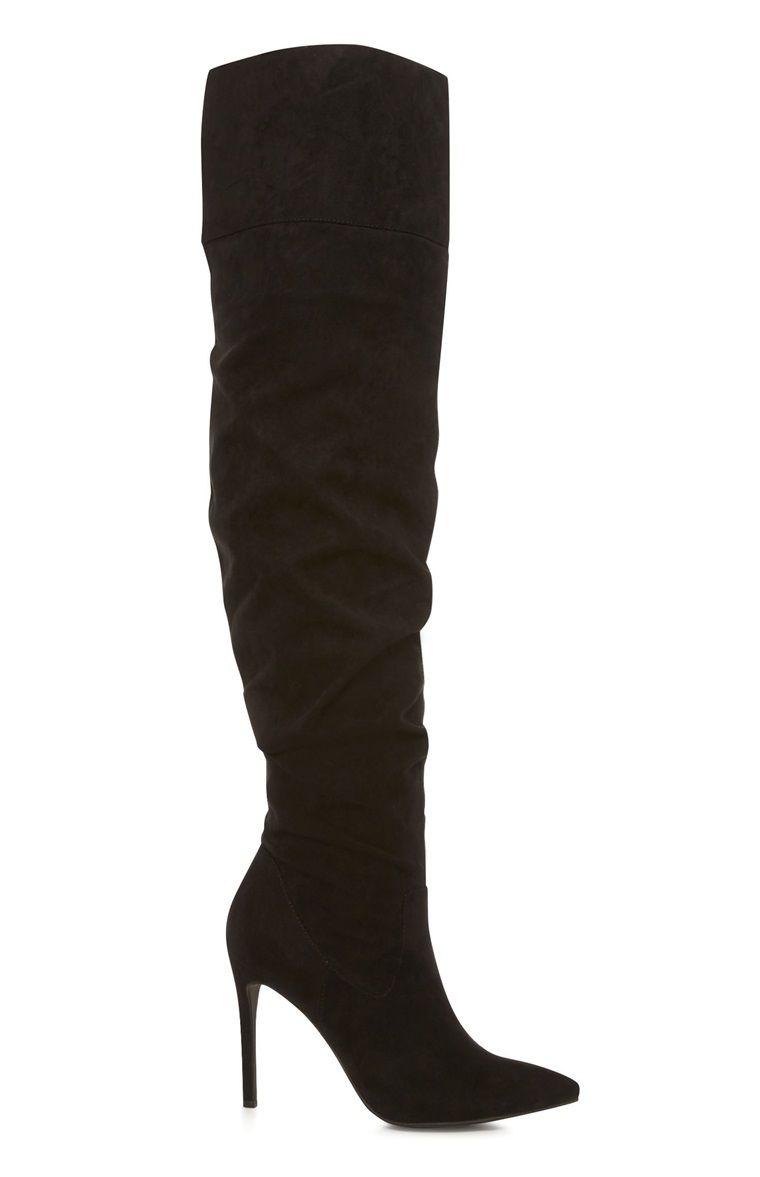 fe2eafaedec5 Primark - Black Slouch Thigh High Boot