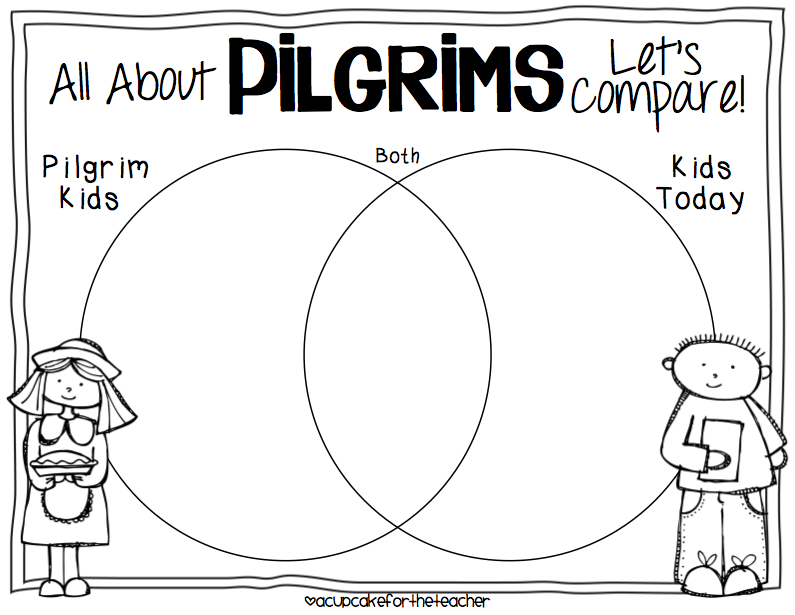Little Pilgrim Kids {a Craftivity} #learning #thanksgiving
