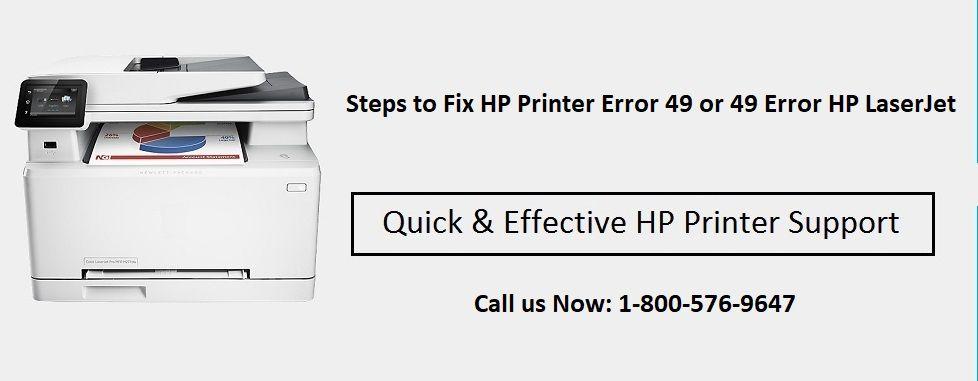 Read steps & learn How to Fix HP Printer Error 49 or Error 49 HP