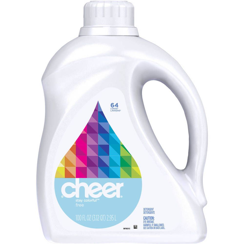 Cheer Free Liquid Laundry Detergent No Dyes No Perfumes 64 Loads