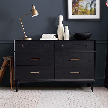Best Mid Century 6 Drawer Dresser Black Malm Dresser Ikea Malm Dresser Mid Century Dresser 400 x 300