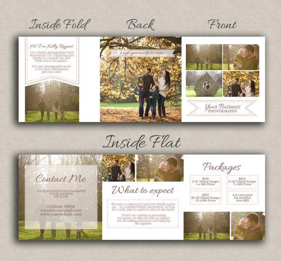 Fall Photography marketing 5x5 photoshop flyer by PixelsandPine