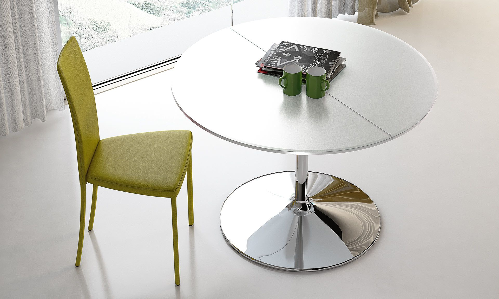 Tavolo tondo Small Small è un piccolo tavolo allungabile con ...