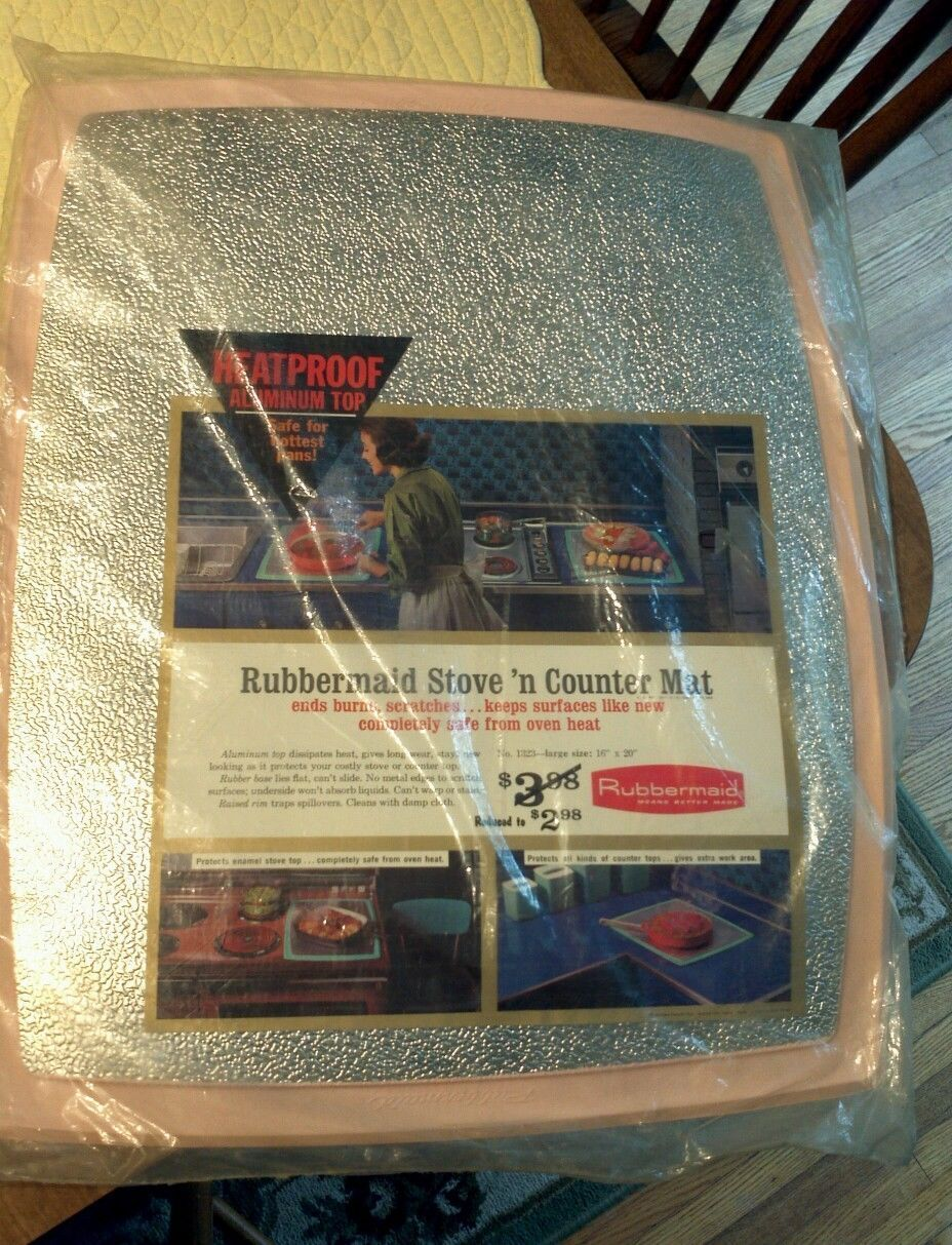 kitchen countertop protectors Vintage s Large Rubbermaid Stove N Counter Mat PINK Large Protector NOS