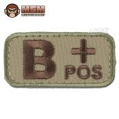 MilSpecMonkey Patch Blutgruppe B Pos multicam #ArmyShop #NATO #Adventure #Security #Military #Camping