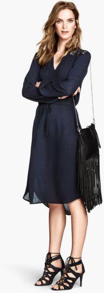 H M Sukienka Koszulowa Karczek Koronka Nowa 5219063073 Oficjalne Archiwum Allegro Fashion Wrap Dress Dresses For Work