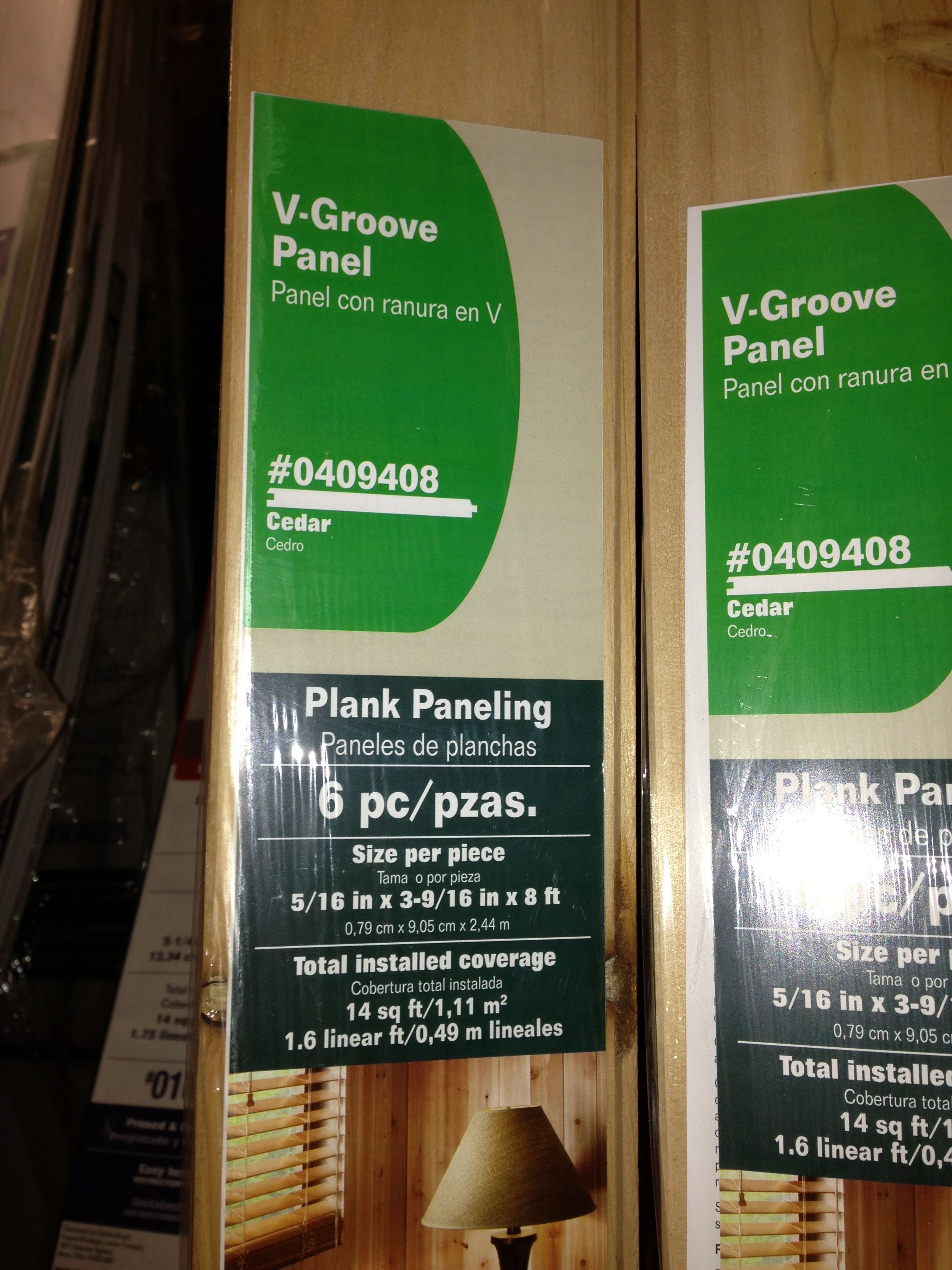Tongue and groove cedar plank paneling at Lowe's 14 ft.², 8 foot ...