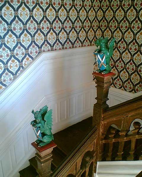 Dragon Newel Post Finials On Bishopu0027s Palace Staircase At Wells