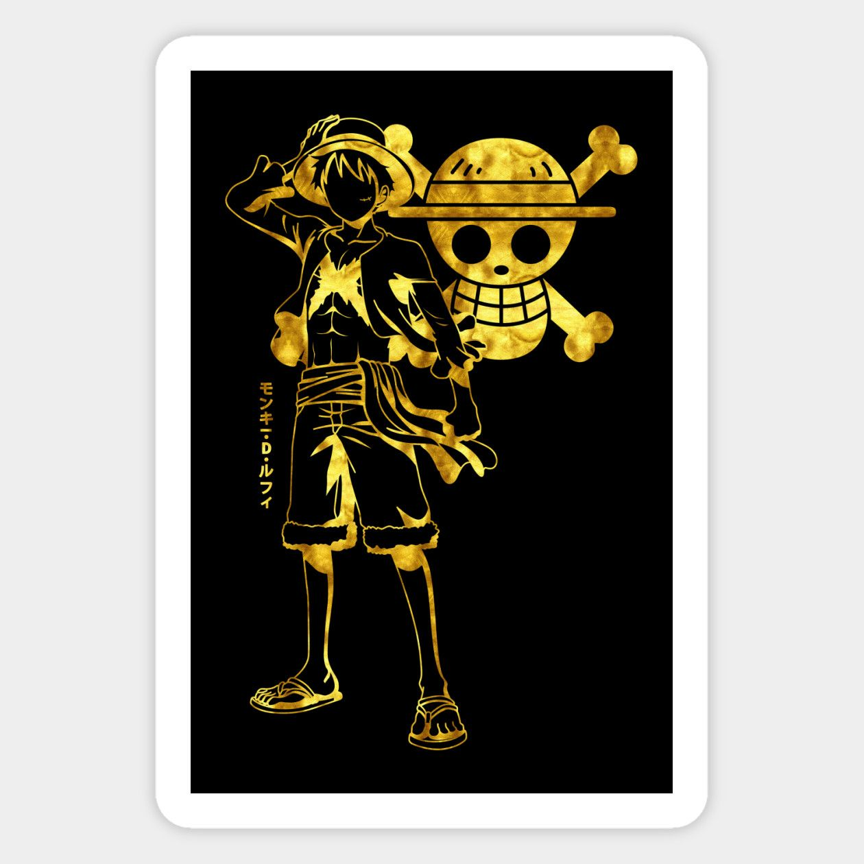 Golden Luffy Magnet