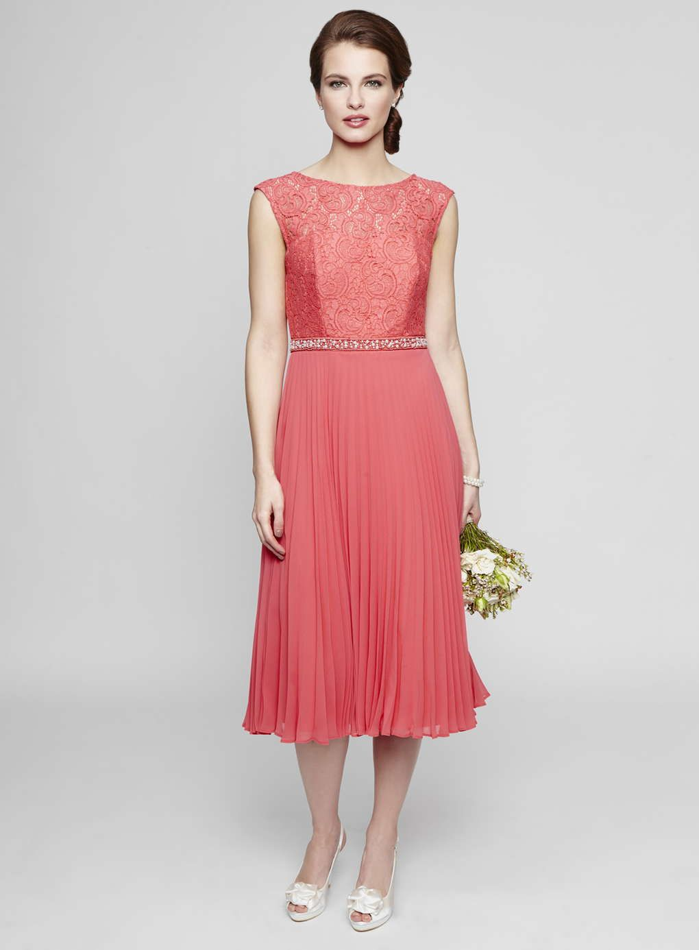 Deep coral louisa lace pleat bridesmaids dress httpwww deep coral louisa lace pleat bridesmaids dress httpweddingheart ombrellifo Choice Image
