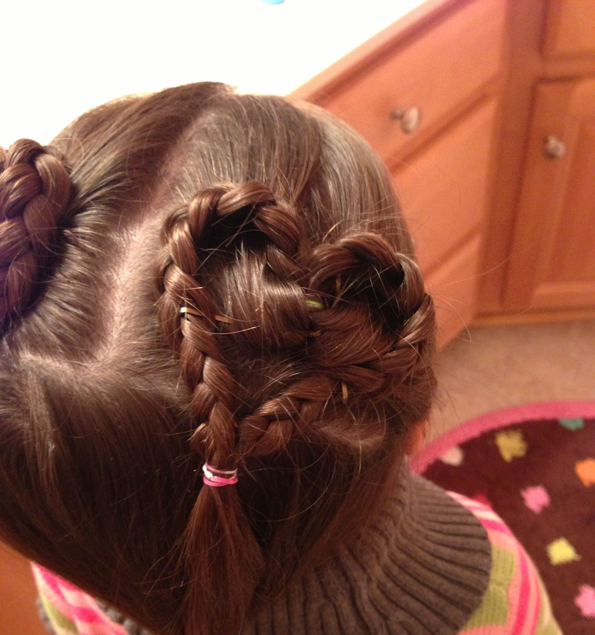 heart shaped braids for valentine's day! :)) cute for little