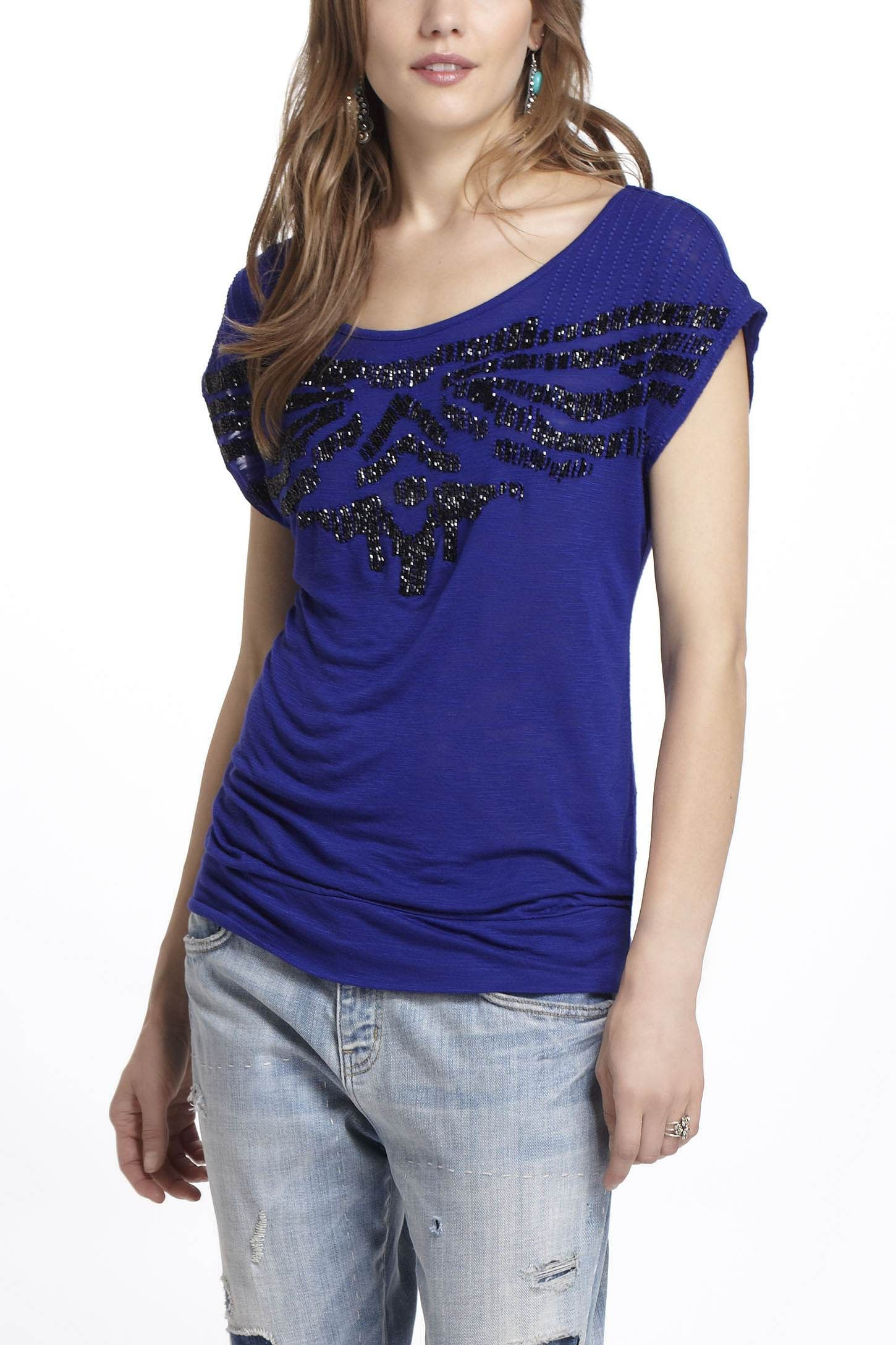 Mmmmm sparkle! / Embellished Embroidery Top - Anthropologie