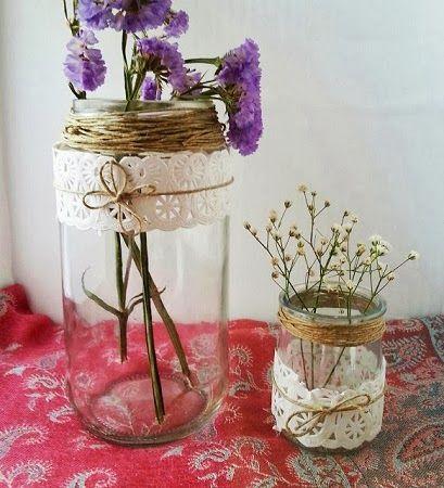 10 ideas para decorar botellas y frascos de vidrio - Decorar botellas de cristal ...