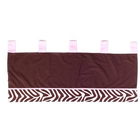 Zara Zebra Window Valance, Brown