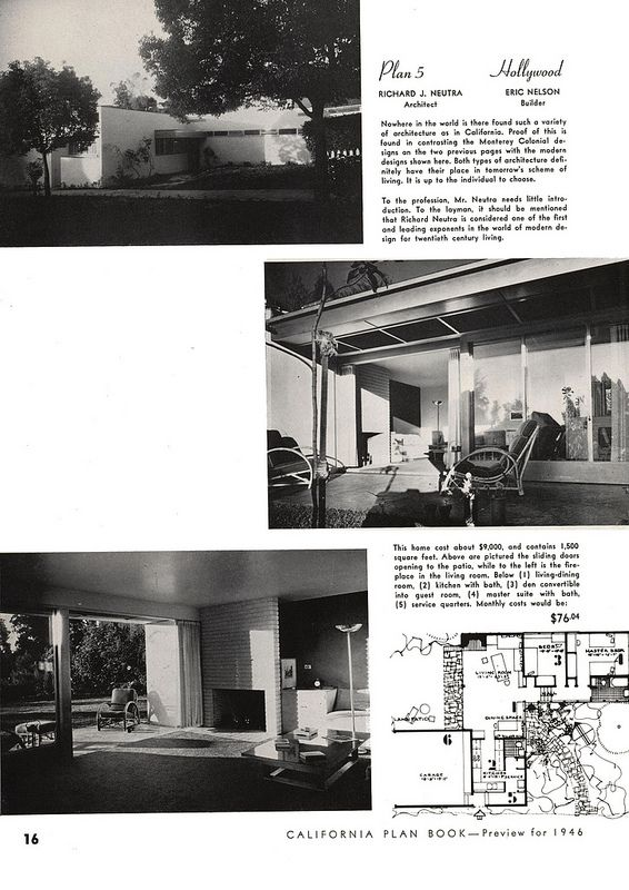 LottaLiving.com :: View Topic   Richard Neutra Architectural Plans For Sale