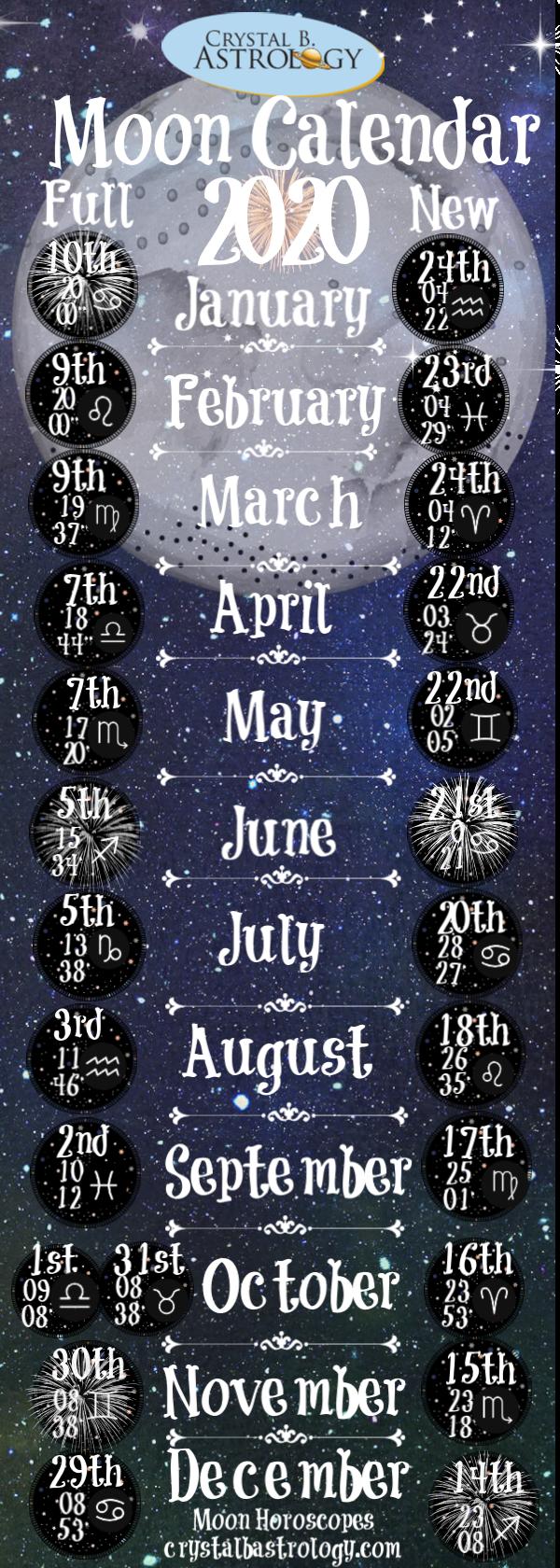 Moon Calendar 2020 #newmoonritual