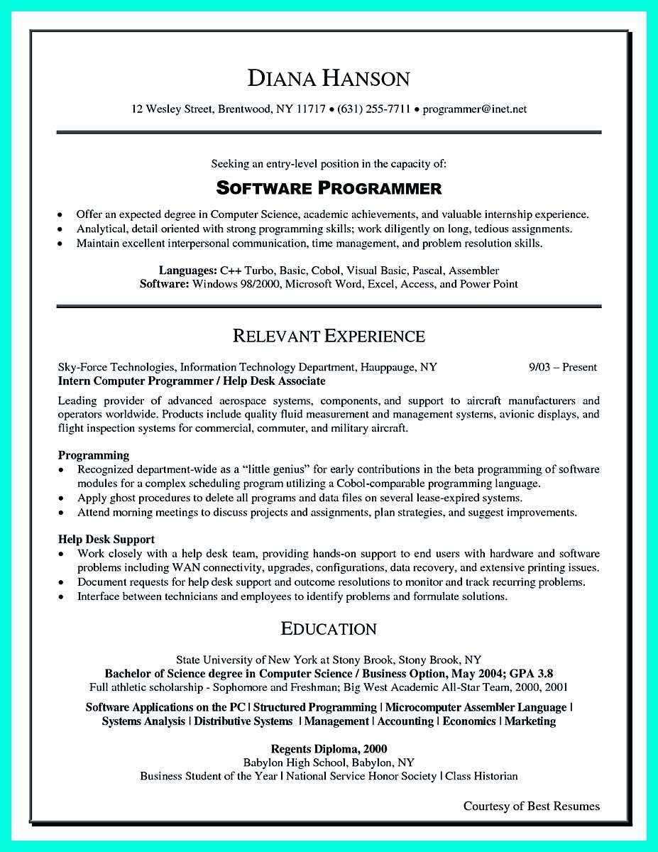 awesome Computer Programmer Resume Examples to Impress Employers ...