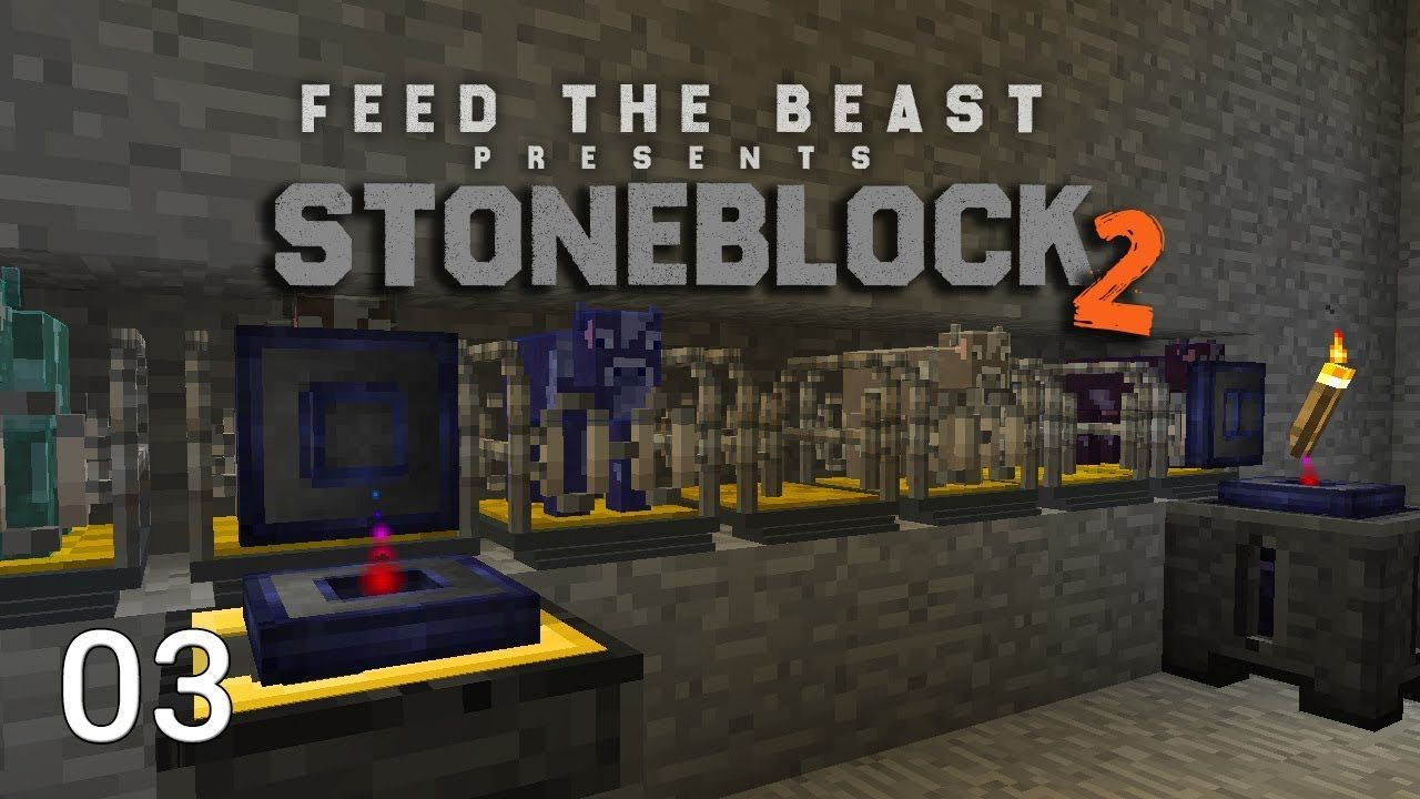 FTB Stoneblock 2 EP3 Wireless Power Starting Fluid Cows