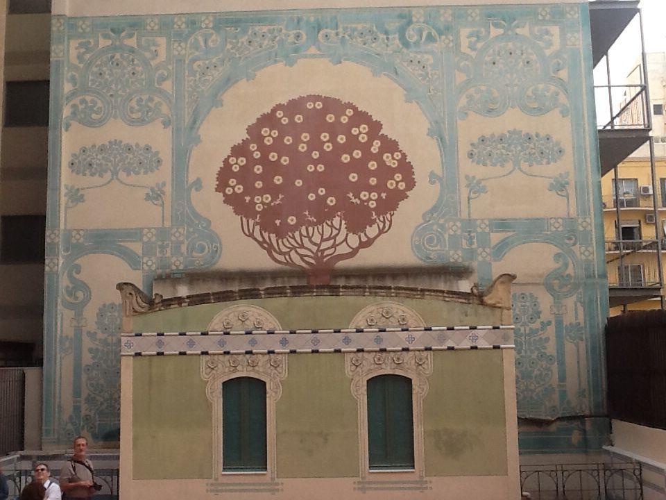 Jugendstil Bemalte Wand Terrasse Basteln Und Deko Basteln