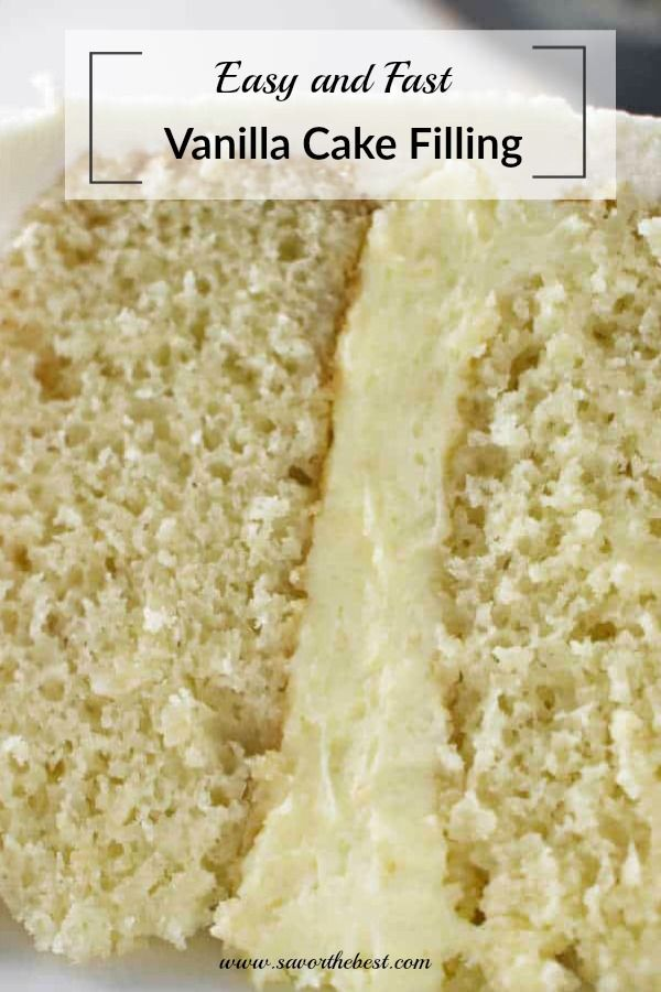 Easy Vanilla Cake Filling Recipe Cake Filling Recipes Cake