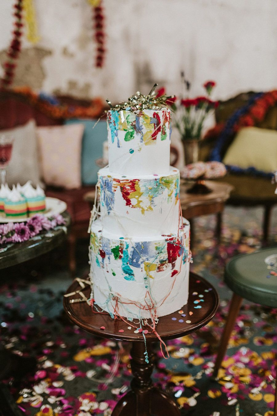 """Colour Explosion"" Vintage #Industrial #Wedding #Inspiration 