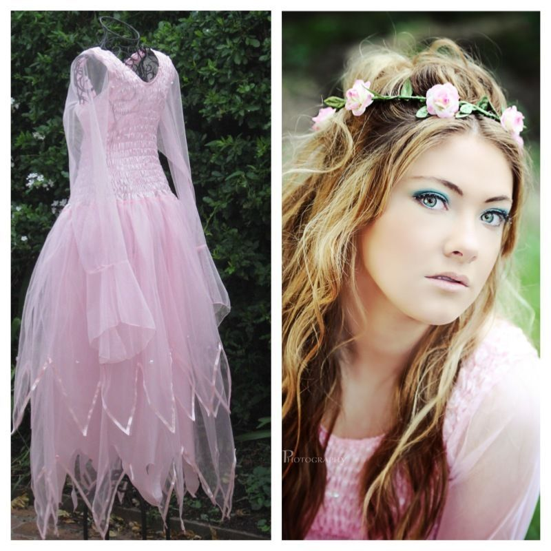 New Adult PINK Fairy Dress ~ Giselle Romantic Halloween Costume ...