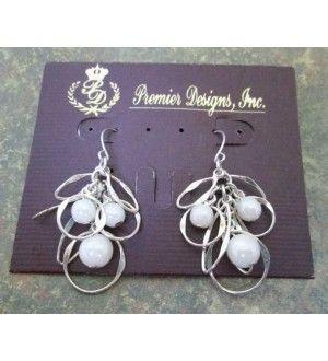 Premier Designs Jewelry Colette Silver Pearl Earrings Premierdesignsjewelrycoletteearrings