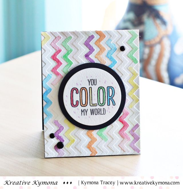 Create your own watercolor inspired card using Tombow Yo-i Crayons! Since the crayons are water-soluble, you can get a beautiful watercolor effect by adding water to them with a paintbrush. Check out this tutorial to learn how!