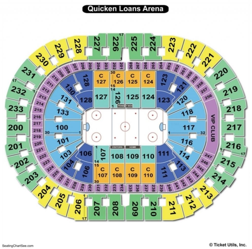 The Most Stylish In Addition To Interesting Quicken Loans Arena Seating Chart With Seat Numbe