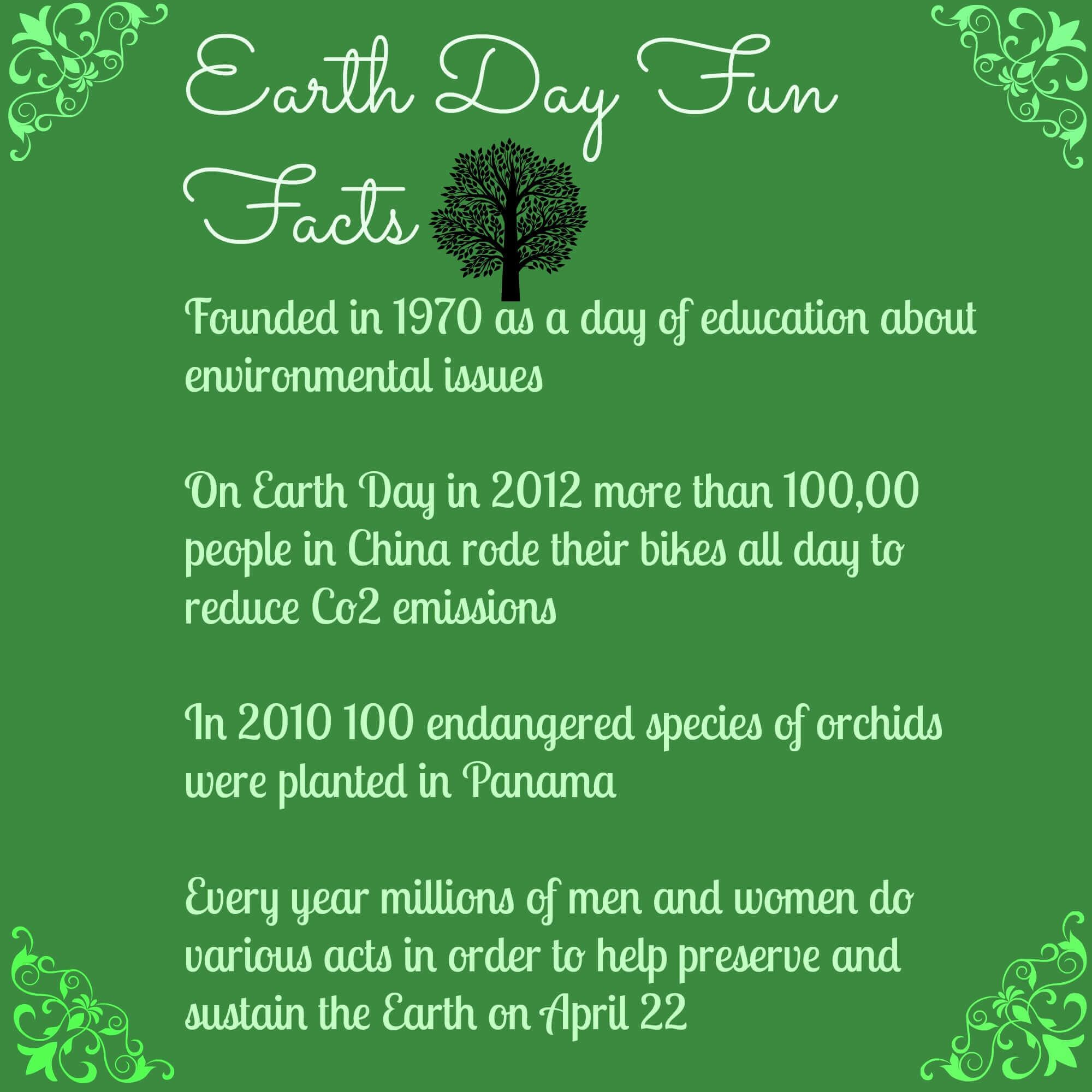 earth day fun facts earth day pinterest