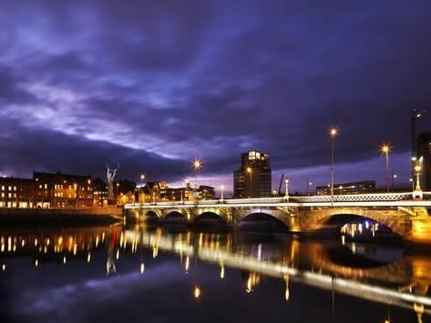 Photographic Print Poster Of Dusk Over The River Lagan In Belfast