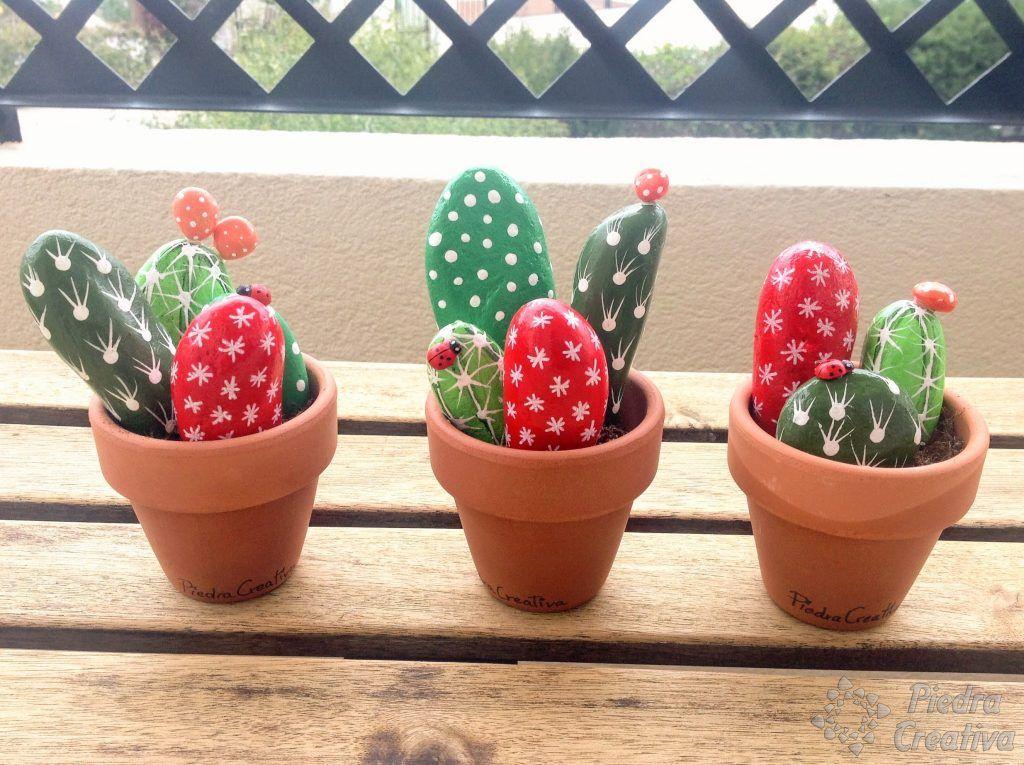 Cactus con piedras de colores Rocks Pinterest Cacti Stone