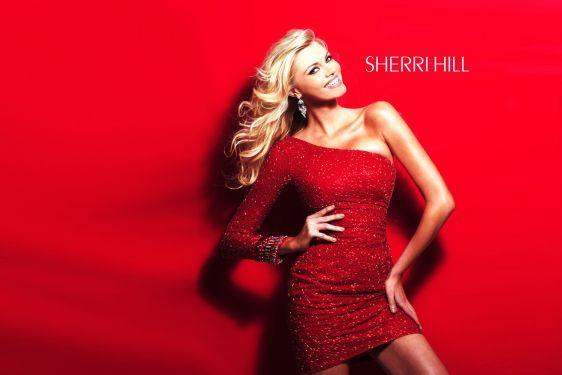 Sherri Hill 1452  Red  Size 10  $498  www.facebook.com/fitforaqueenwv