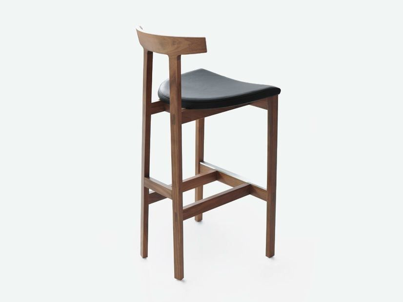 Download The Catalogue And Request Prices Of Torii Bar Stool By Bensen High Wooden Stool Torii Collection Bar Stools Home Bar Decor Modern Bar Stools