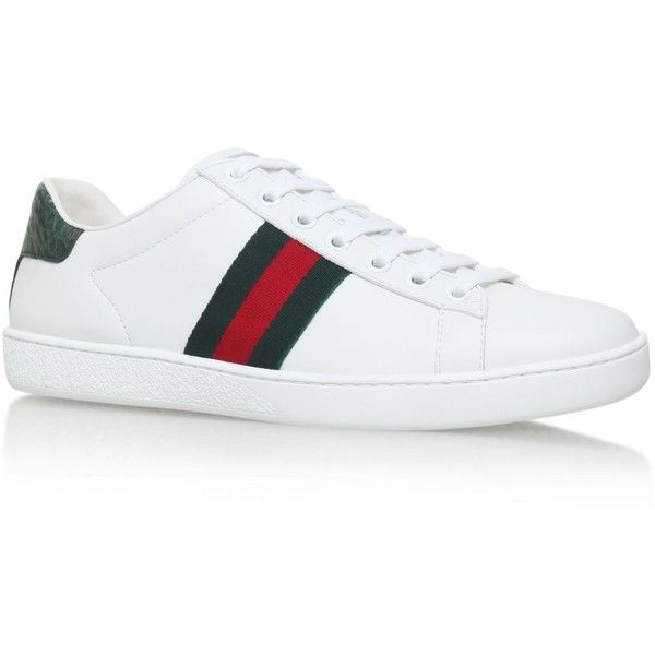 52e53be1f Gucci New Ace Sneakers ($500) ❤ liked on Polyvore featuring shoes, sneakers,  gucci footwear, low profile shoes, gucci sneakers, low top and gucci shoes