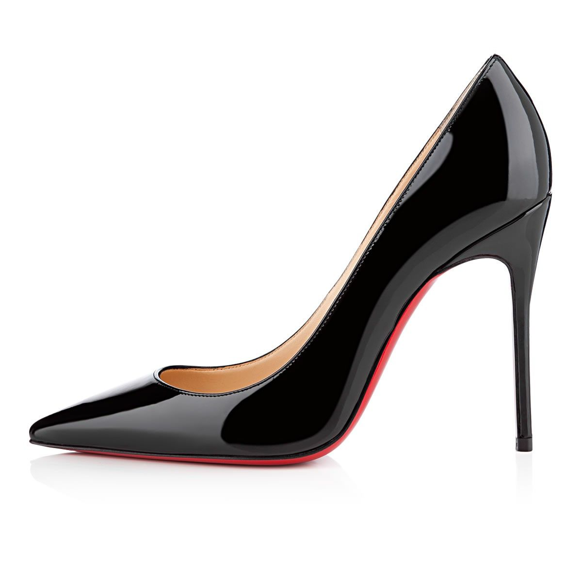 beauty differently new high Kate 100 Black Patent Leather - Women Shoes - Christian ...