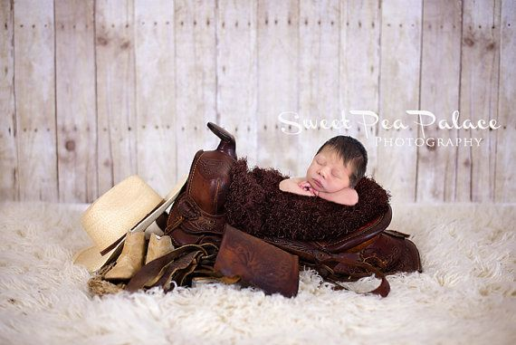 Newborn Baby Photography Prop Digital Backdrop for Photographers Saddle Cowboy Cowgirl