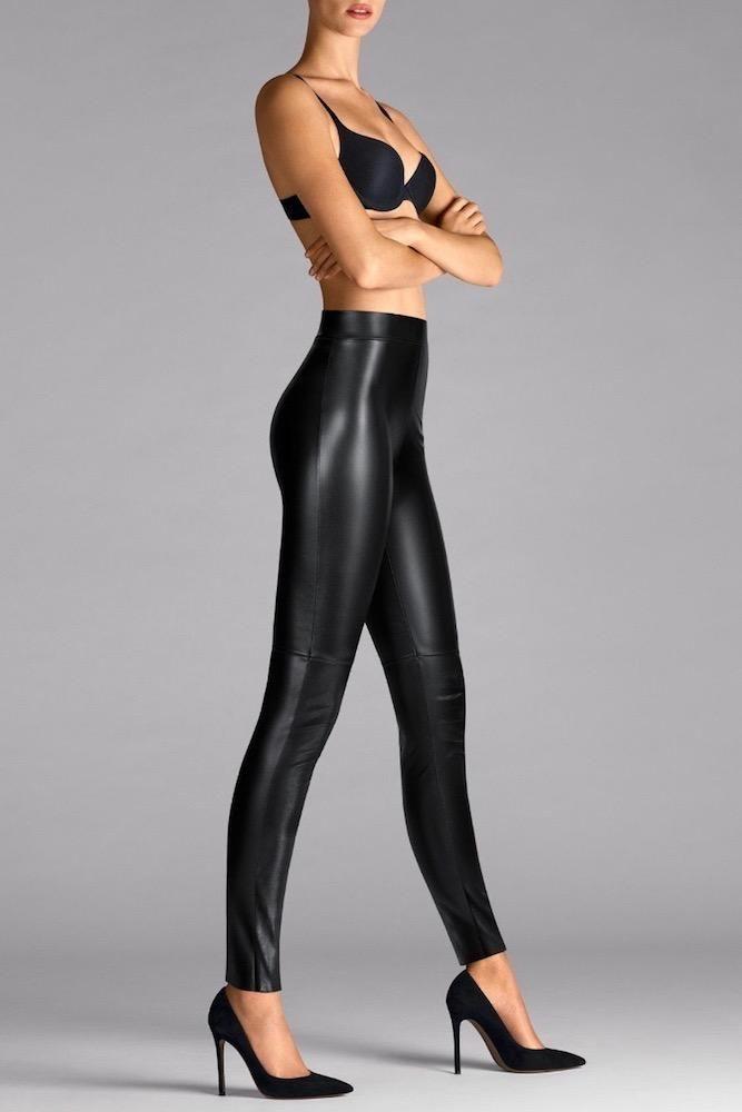 c6b08ba30e4bb Wolford Estella Faux Leather Leggings | Leggings | Leather leggings ...