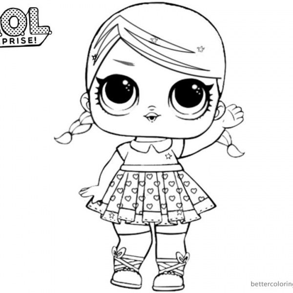 Mermaid LOL Surprise Doll Coloring Pages Merbaby Free