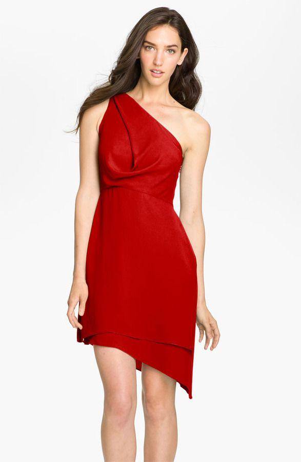2ff18087fc BCBG MAX AZRIA BCBGMAXAZRIA One Shoulder Asymmetrical Chiffon Dress ...