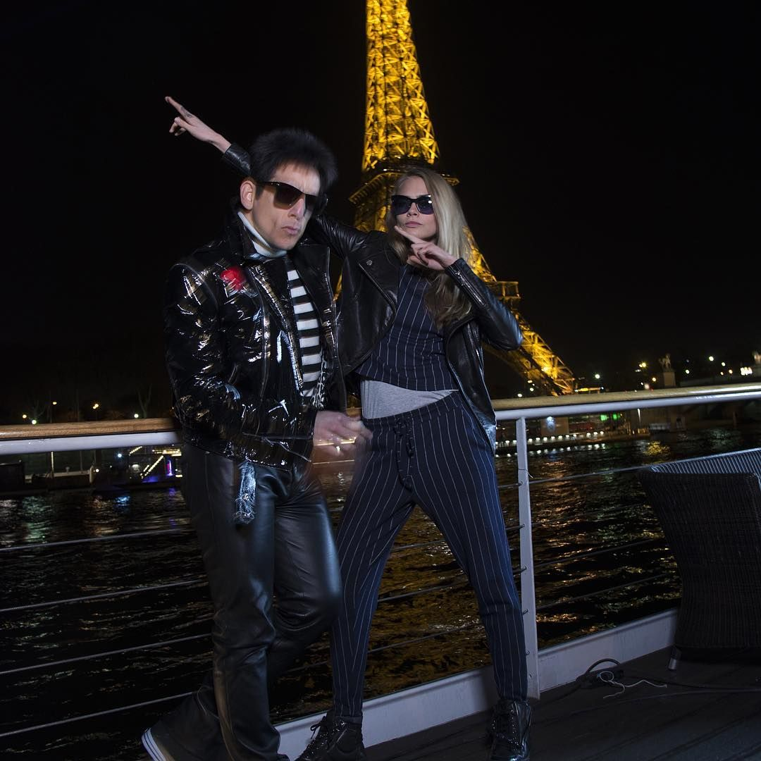 Cara Delevingne and Ben Stiller at the Eiffel Tower!  - 28/01/2016