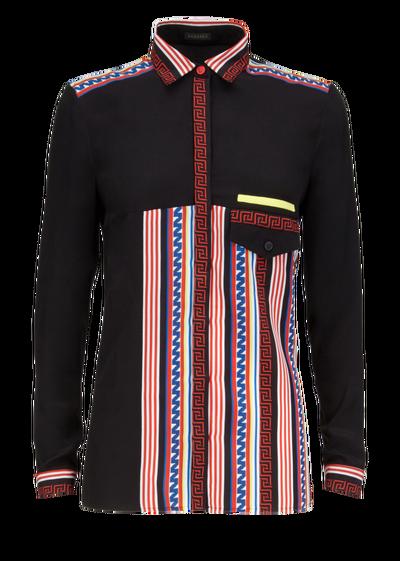 chercher produits de commodité jolie et colorée Racer Stripes Silk Blouse - A7205 Blouses & Tops | Versace ...