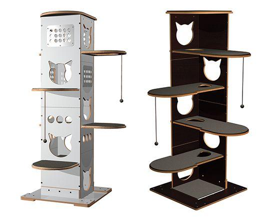 Spectacular Modern Cat Furniture From Brazil Hauspanther Modern Cat Furniture Cat House Diy Cat Furniture