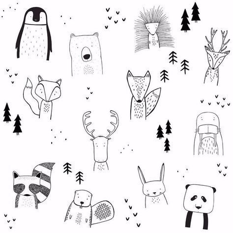 Pattern Design Inspiration – Image result for bullet journaling animal doodles