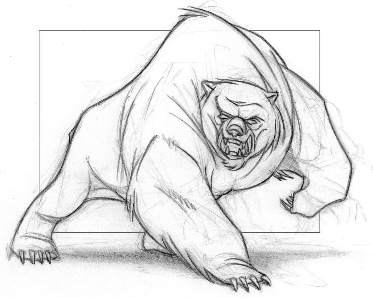 Angry Bear Bear Drawing Animals Artwork Animal Drawings